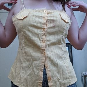 Button up yellow spaghetti starp